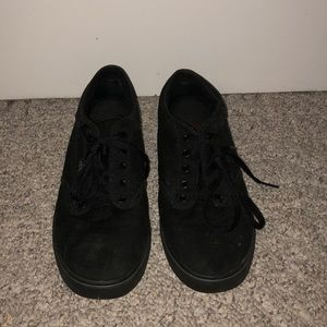Vans- all black sneakers, women's size 9